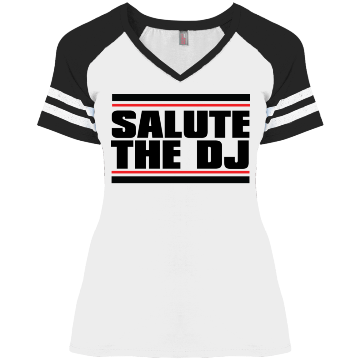 Salute The DJ District Ladies' Game V-Neck T-Shirt