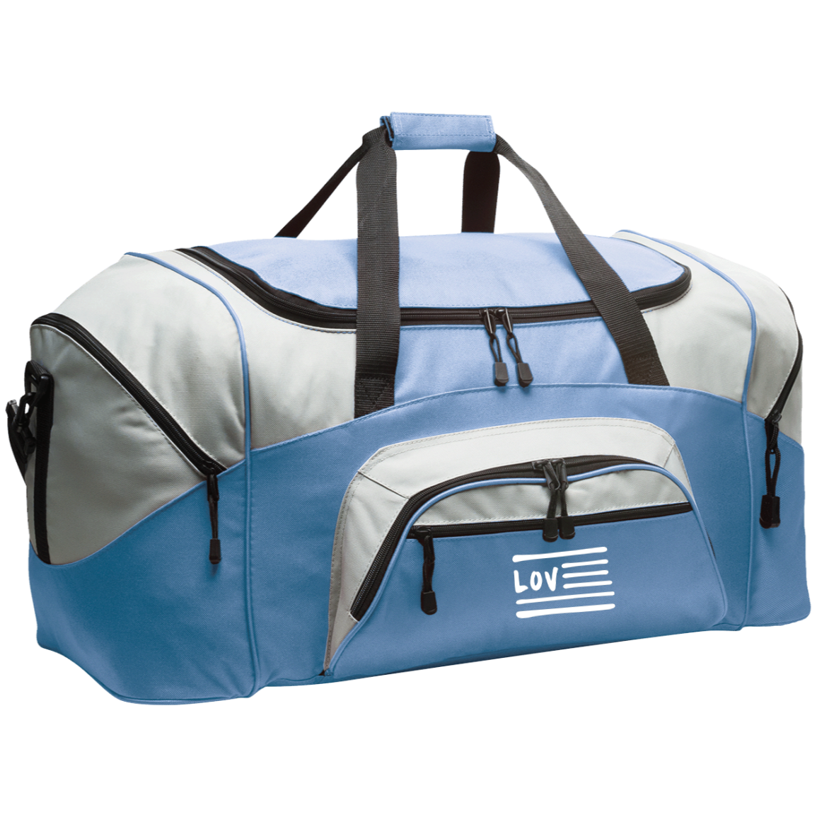 Love Nation Colorblock Sport Duffel