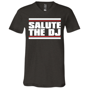 Salute The DJ Unisex Jersey SS V-Neck T-Shirt