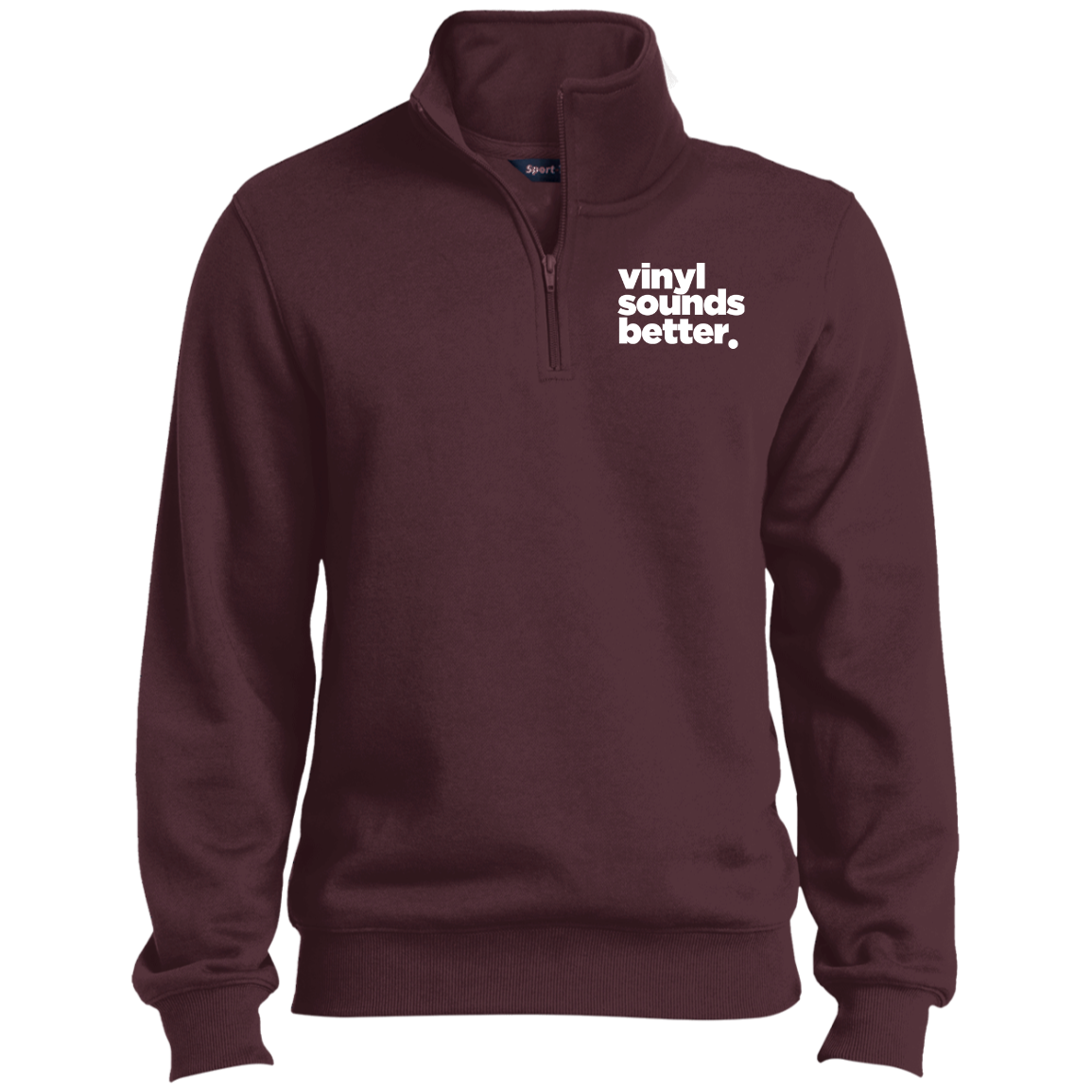 Vinyl Sounds Better Sport-Tek 1/4 Zip Sweatshirt