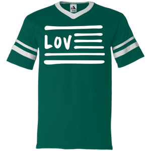 Love Nation Augusta V-Neck Sleeve Stripe Jersey