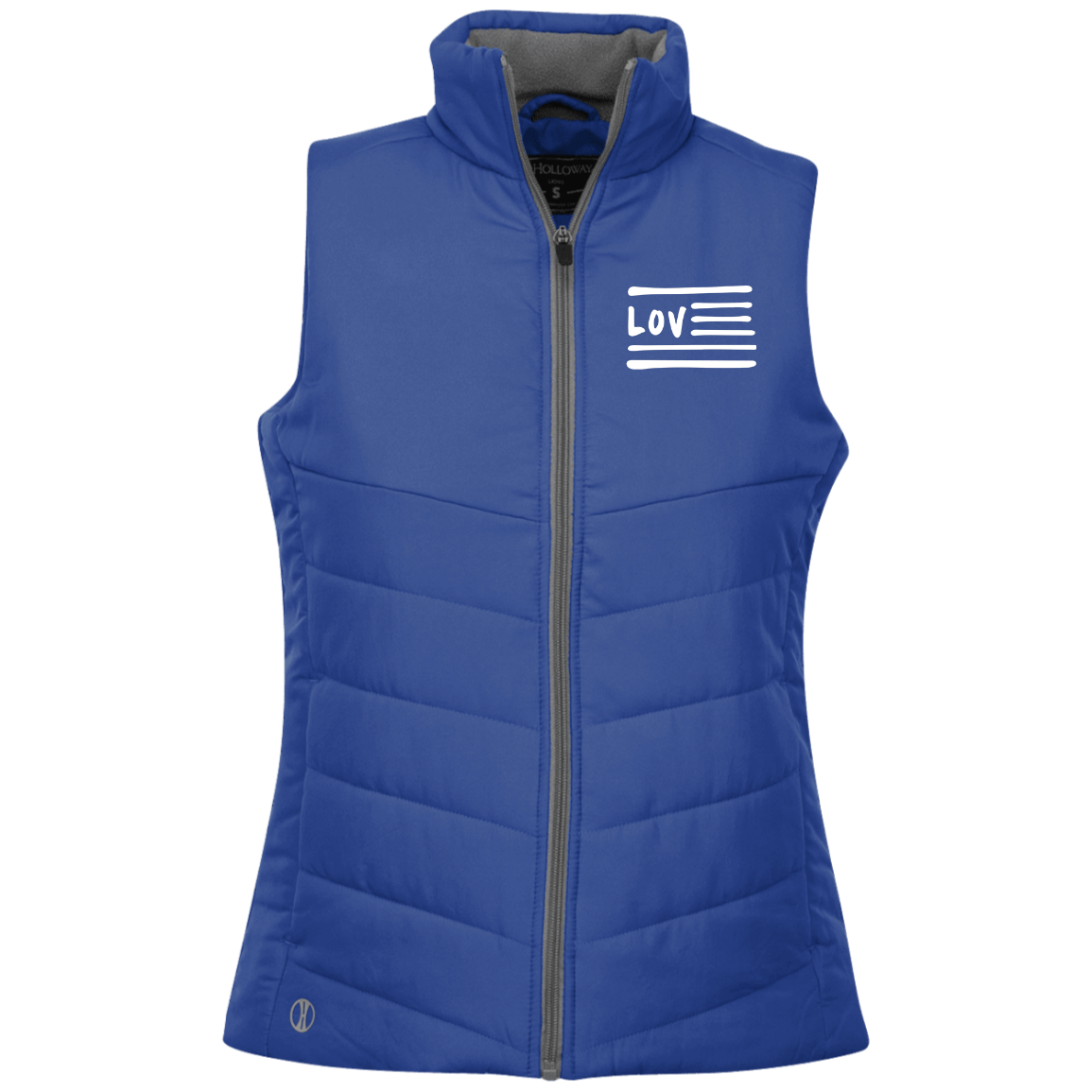 Love Nation Holloway Ladies' Quilted Vest - Vinyl Clothing Co - DJ Apparel Clothing Disc Jockey Vinyl Gear