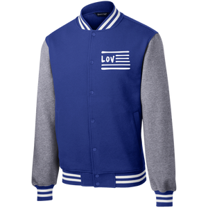 Love Nation Sport-Tek Fleece Letterman Jacket - Vinyl Clothing Co - DJ Apparel Clothing Disc Jockey Vinyl Gear