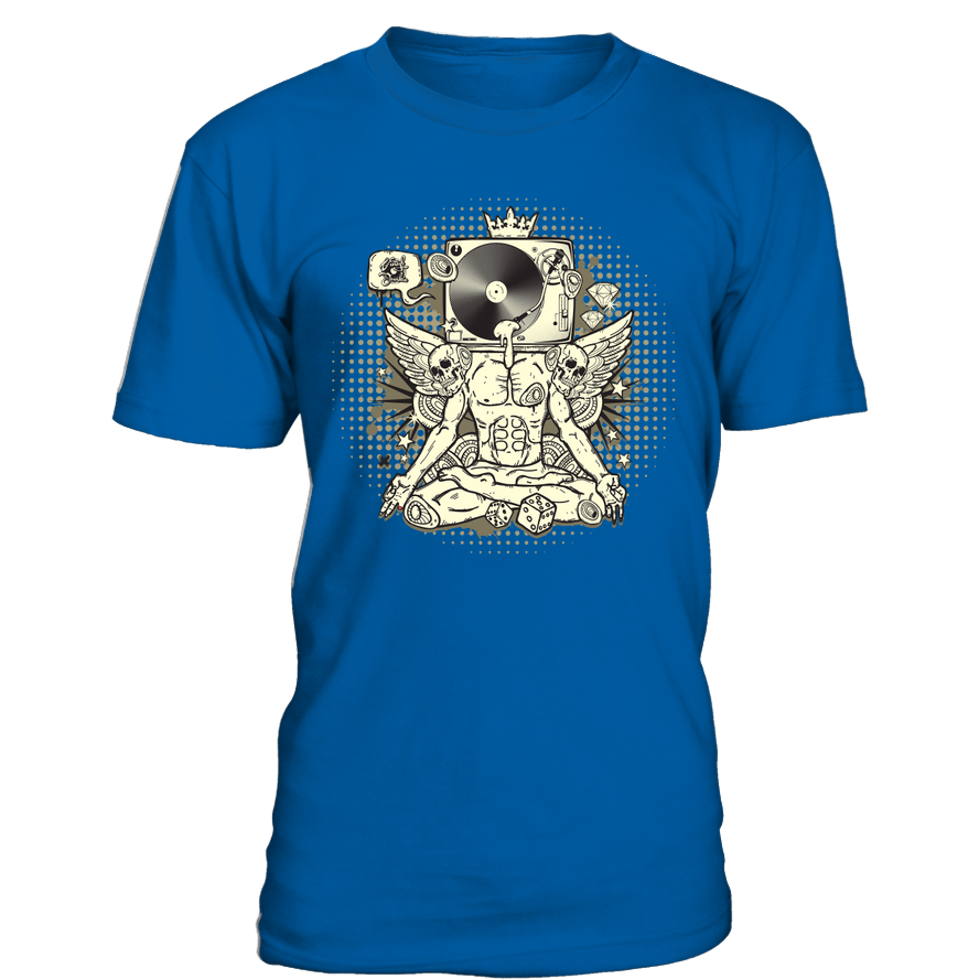 Turntable Head T-Shirt - Vinyl Clothing Co - DJ Apparel Clothing Disc Jockey Vinyl Gear