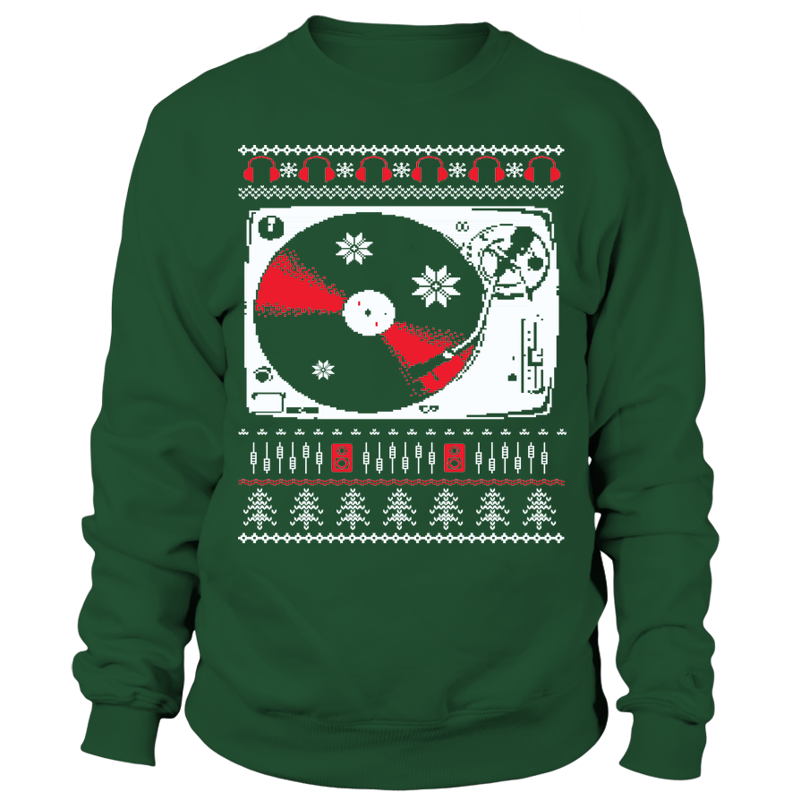 Ugly Christmas Sweatshirt - Vinyl Clothing Co - DJ Apparel Clothing Disc Jockey Vinyl Gear