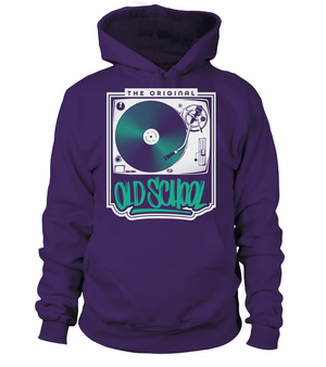 The Original Old School Hoodie - Vinyl Clothing Co - DJ Apparel Clothing Disc Jockey Vinyl Gear