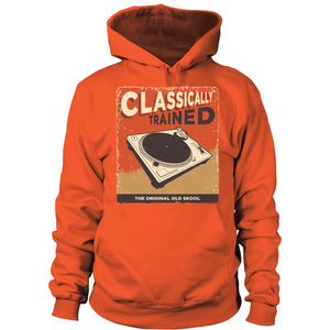 Classically Trained Turntable Hoodie - Vinyl Clothing Co - DJ Apparel Clothing Disc Jockey Vinyl Gear