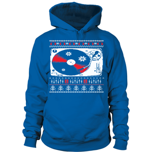 Ugly Christmas Sweater Hoodie - Vinyl Clothing Co - DJ Apparel Clothing Disc Jockey Vinyl Gear