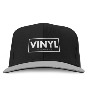 Vinyl Clothing Co Snapback Hat - Black/Grey - Vinyl Clothing Co - DJ Apparel Clothing Disc Jockey Vinyl Gear