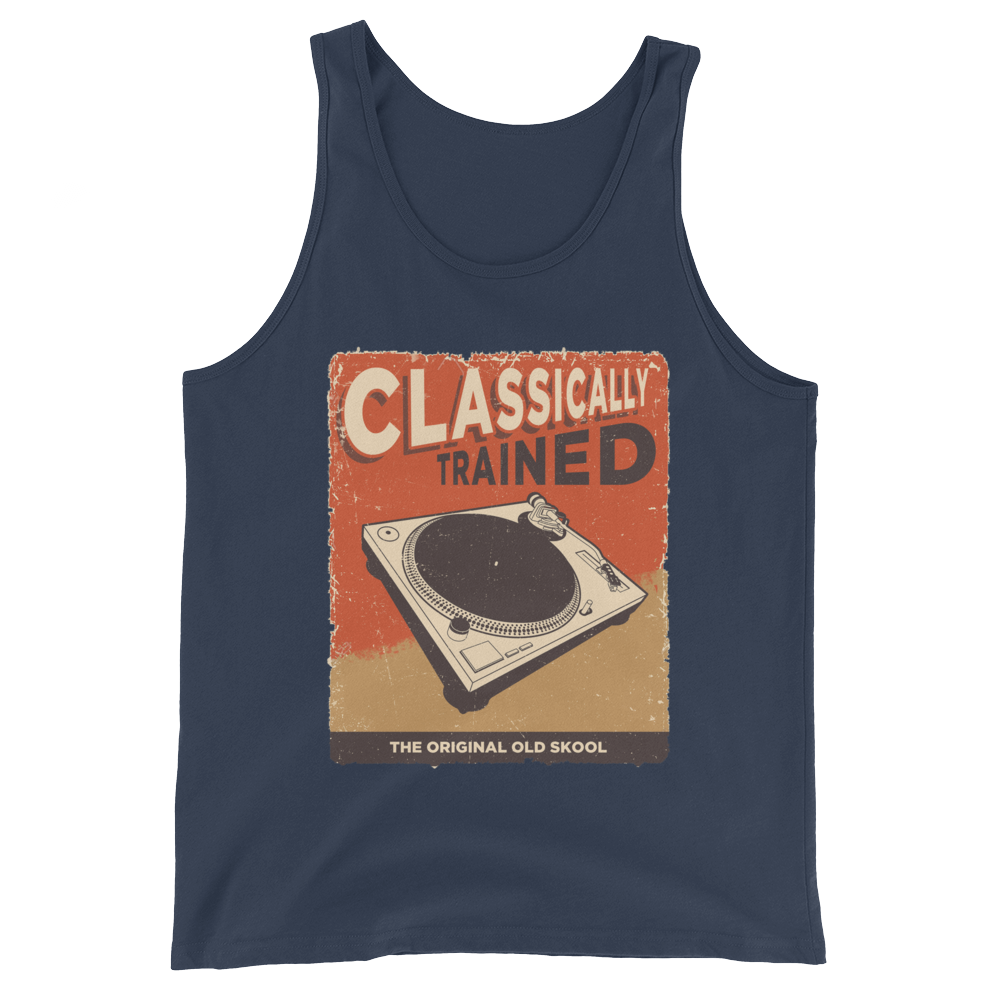 Classically Trained Original Unisex  Tank Top - Vinyl Clothing Co - DJ Apparel Clothing Disc Jockey Vinyl Gear