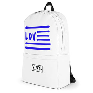 Love Nation Blue Flag Backpack - Vinyl Clothing Co - DJ Apparel Clothing Disc Jockey Vinyl Gear