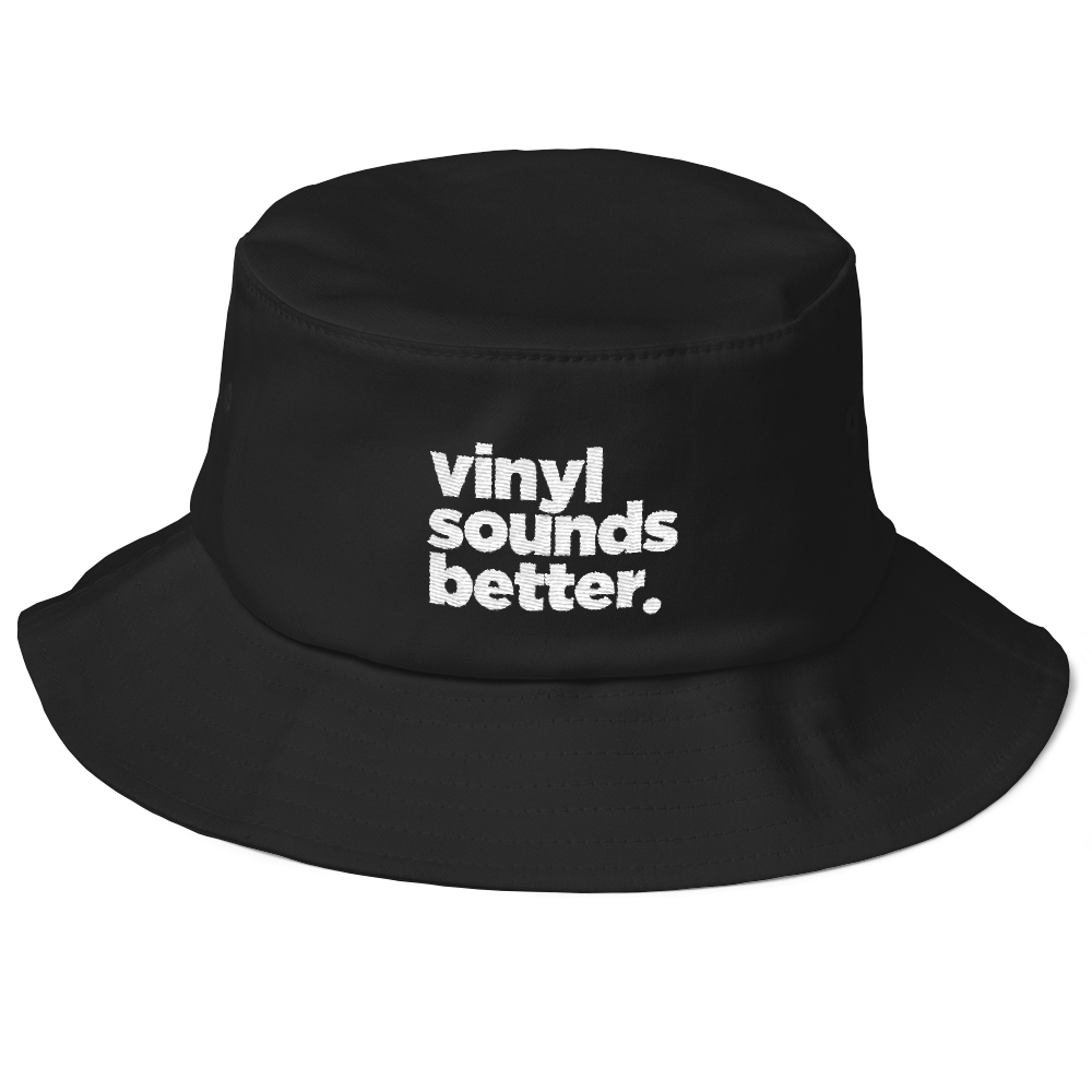 Vinyl Sounds Better Old School Bucket Hat - Vinyl Clothing Co - DJ Apparel Clothing Disc Jockey Vinyl Gear