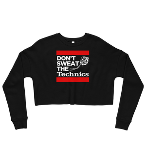 Don't Sweat The Technics Women's Crop Sweatshirt