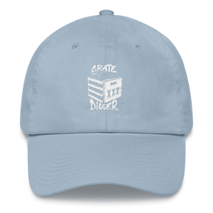 Crate Digger Dad Hat - Vinyl Clothing Co - DJ Apparel Clothing Disc Jockey Vinyl Gear
