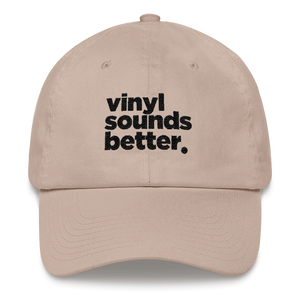 Vinyl Sounds Better (Blk Letters)