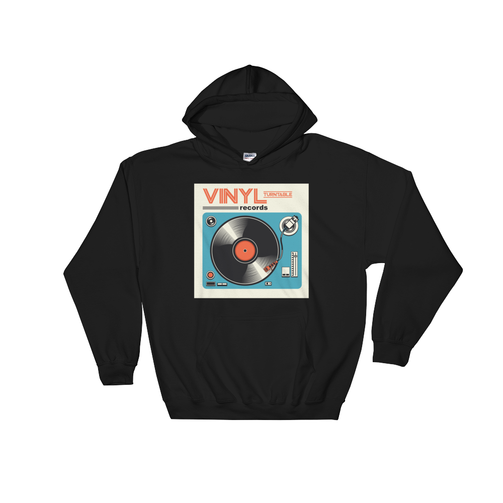 Vinyl Turntable Hoodie - Vinyl Clothing Co - DJ Apparel Clothing Disc Jockey Vinyl Gear
