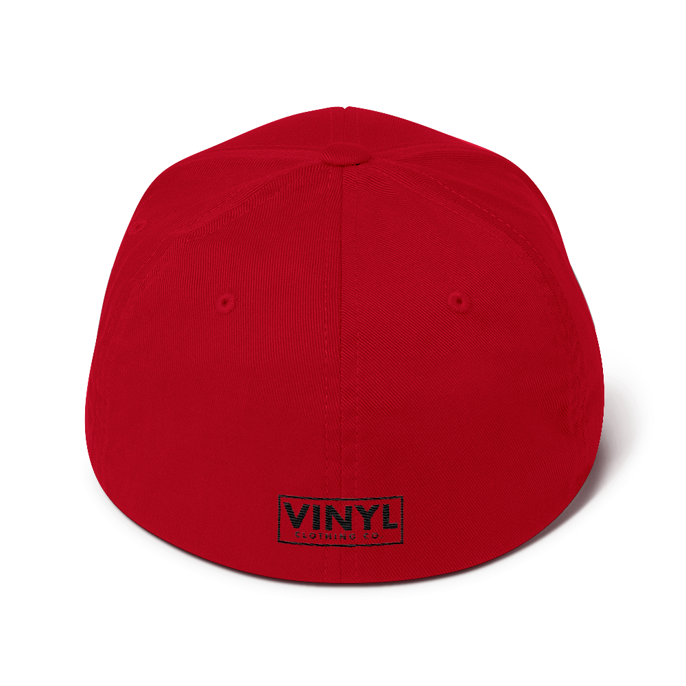 Vinyl Sounds Better Flexfit Twill Cap - Vinyl Clothing Co - DJ Apparel Clothing Disc Jockey Vinyl Gear