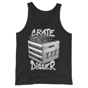 Crate Digger Unisex  Tank Top - Vinyl Clothing Co - DJ Apparel Clothing Disc Jockey Vinyl Gear