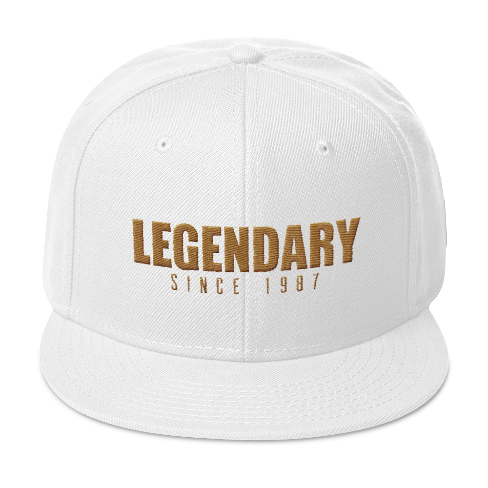 Legendary Since 1987 Snapback Hat (Year Customizable) - Vinyl Clothing Co - DJ Apparel Clothing Disc Jockey Vinyl Gear