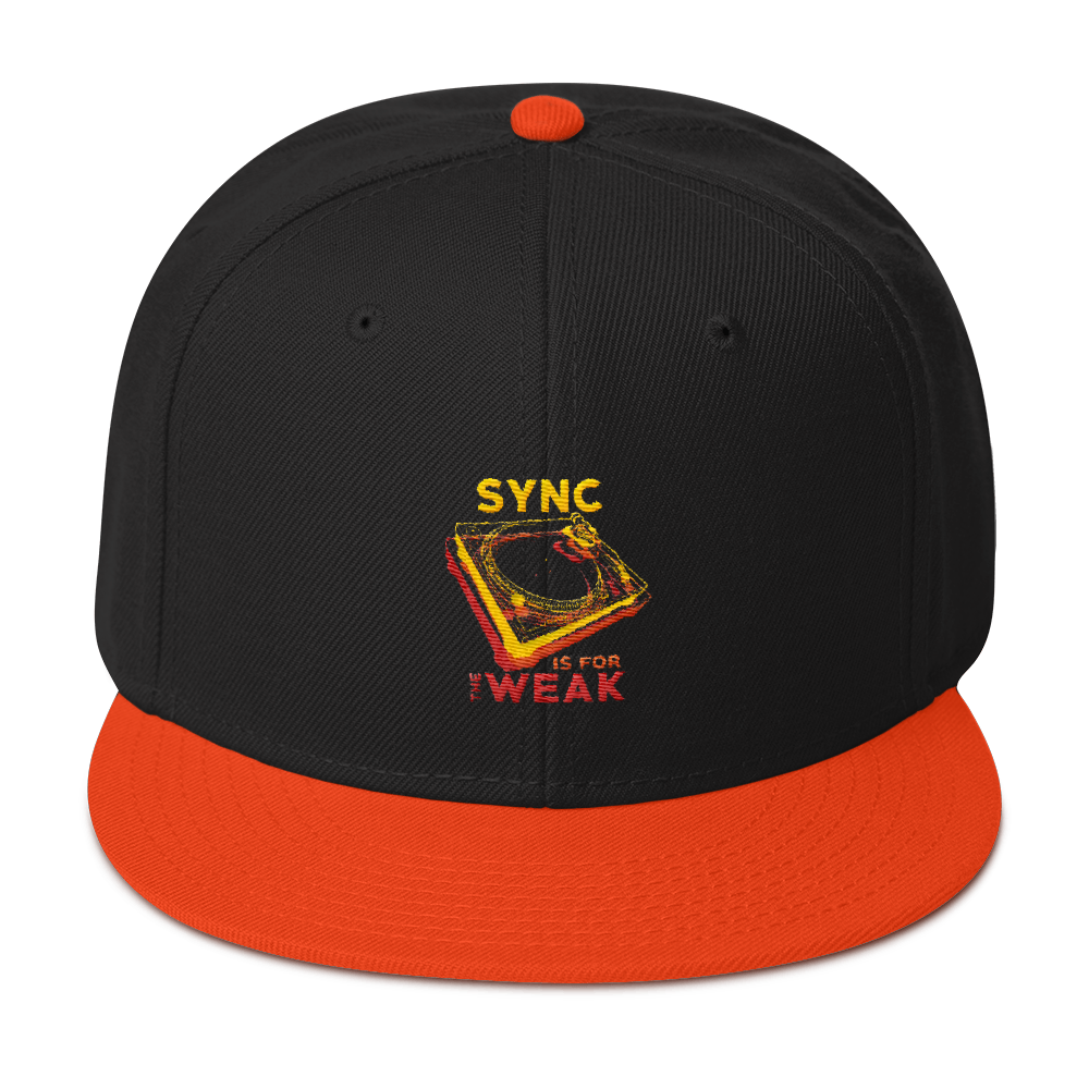 Sync Is For The Weak Snapback Hat