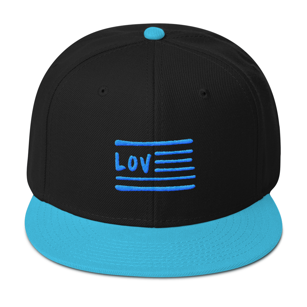 Love Nation Blue Flag Snapback Hat