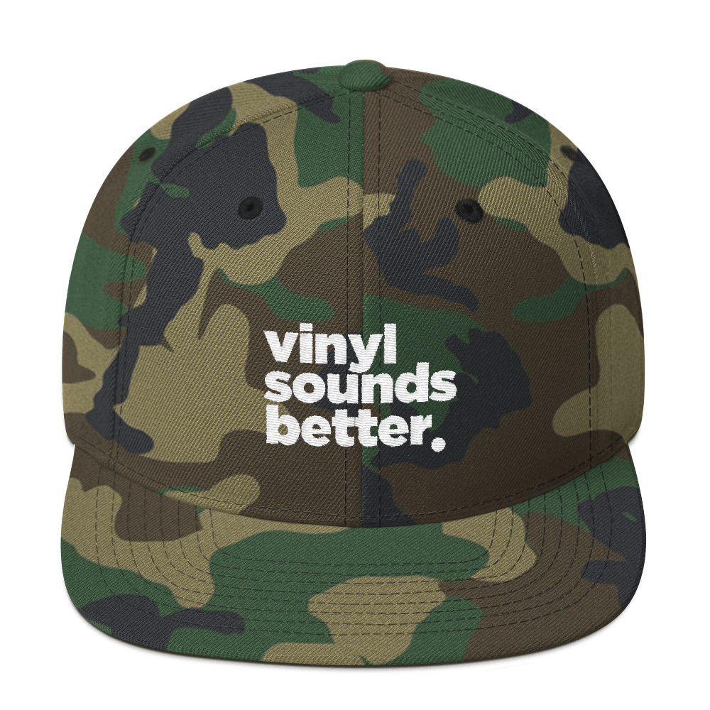 Vinyl Sounds Better Snapback Hat - Vinyl Clothing Co - DJ Apparel Clothing Disc Jockey Vinyl Gear