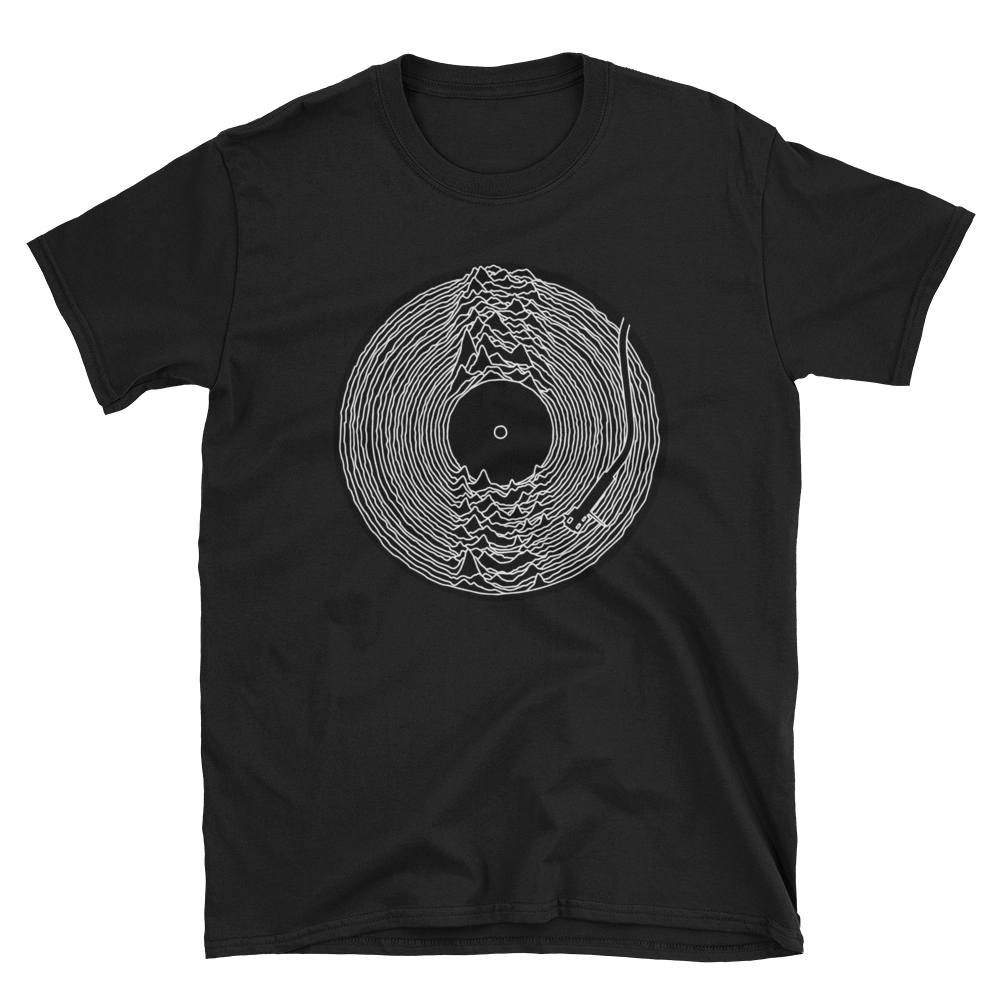 Joy Division Unknown Pleasures Short-Sleeve Unisex T-Shirt - Vinyl Clothing Co - DJ Apparel Clothing Disc Jockey Vinyl Gear
