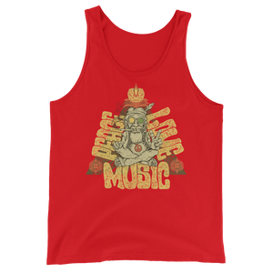 Peace, Love, Music Unisex  Tank Top