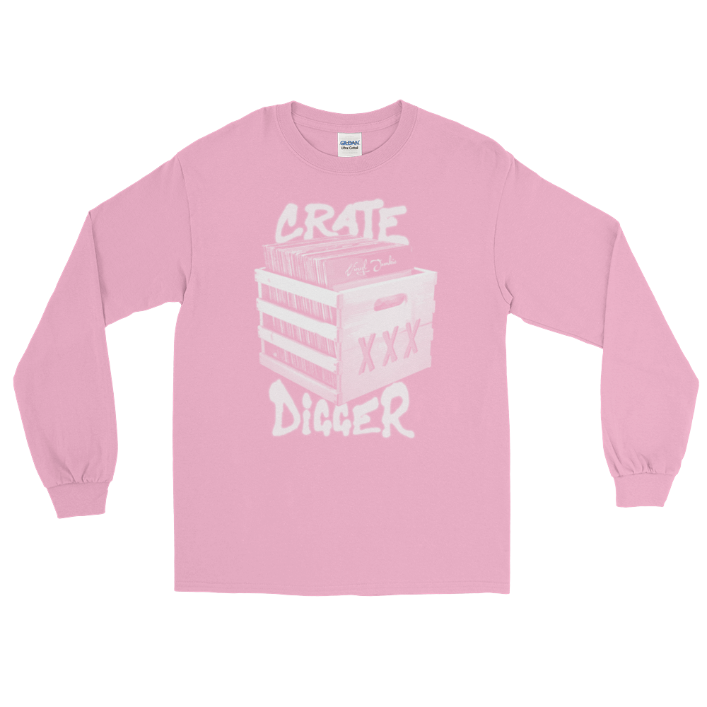 Crate Digger Long Sleeve T-Shirt - Vinyl Clothing Co - DJ Apparel Clothing Disc Jockey Vinyl Gear
