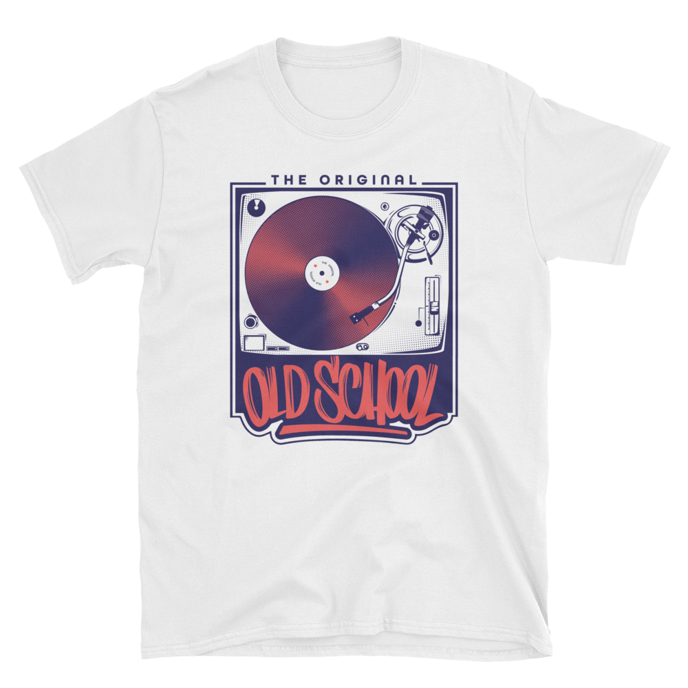 Old School Turntable Short-Sleeve Unisex T-Shirt