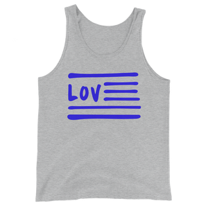 Love Nation Blue Flag Unisex  Tank Top