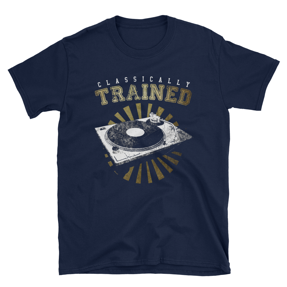 Classically Trained 1200 Short-Sleeve Unisex T-Shirt - Vinyl Clothing Co - DJ Apparel Clothing Disc Jockey Vinyl Gear