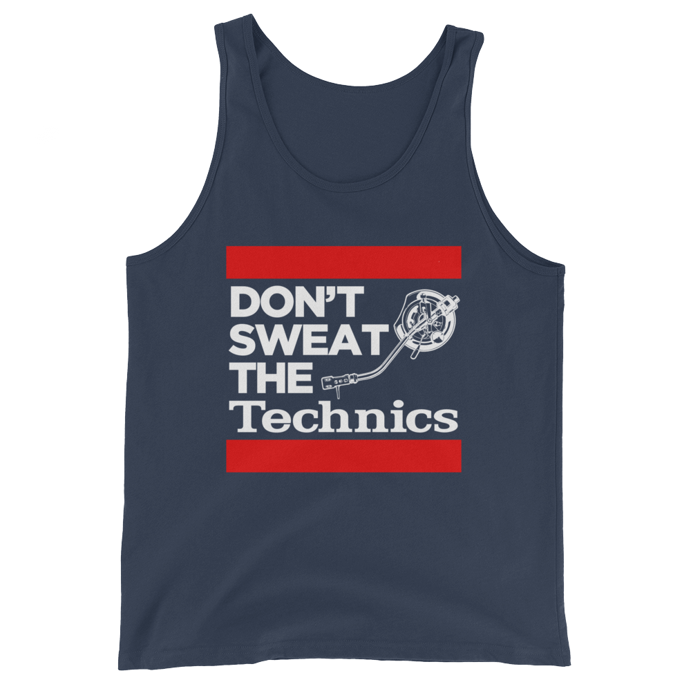 Don't Sweat The Technics Unisex  Tank Top - Vinyl Clothing Co - DJ Apparel Clothing Disc Jockey Vinyl Gear