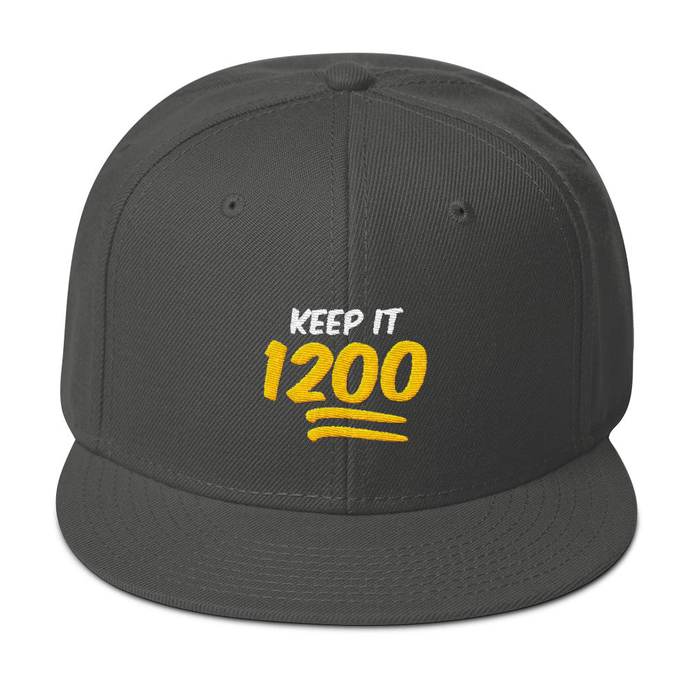 Keep It 1200 Yellow Logo Snapback Hat