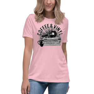 Coffee & Vinyl Women's Relaxed T-Shirt