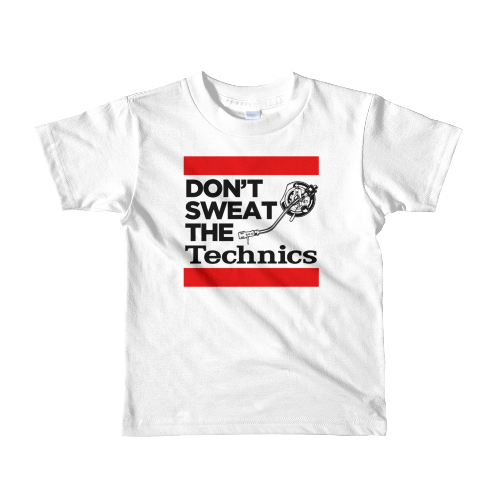 """Don't Sweat The Technics"" Kids Tee - Vinyl Clothing Co - DJ Apparel Clothing Disc Jockey Vinyl Gear"