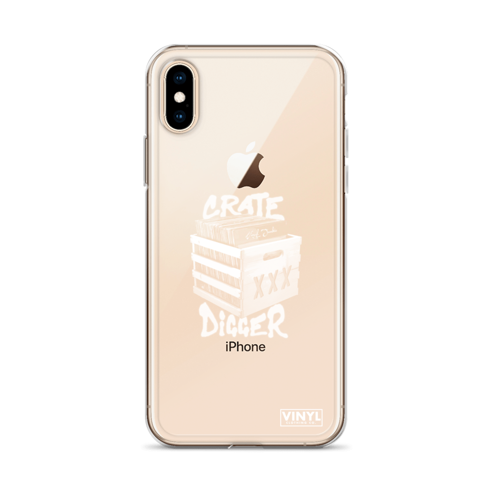 Crate Digger iPhone Case - Vinyl Clothing Co - DJ Apparel Clothing Disc Jockey Vinyl Gear