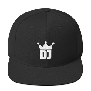 DJ Crown Snapback Hat - Vinyl Clothing Co - DJ Apparel Clothing Disc Jockey Vinyl Gear