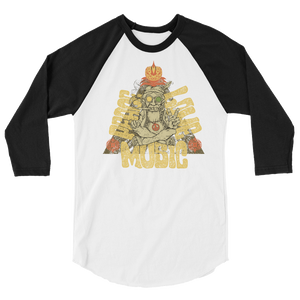 Peace, Love & Music 3/4 sleeve raglan shirt