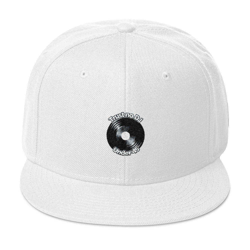 Trust No DJ Under 45 RPM Snapback Hat - Vinyl Clothing Co - DJ Apparel Clothing Disc Jockey Vinyl Gear