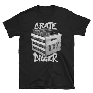Crate Digger Short-Sleeve Unisex T-Shirt - Vinyl Clothing Co - DJ Apparel Clothing Disc Jockey Vinyl Gear
