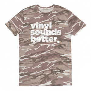 Vinyl Sounds Better Camouflage t-shirt - Vinyl Clothing Co - DJ Apparel Clothing Disc Jockey Vinyl Gear