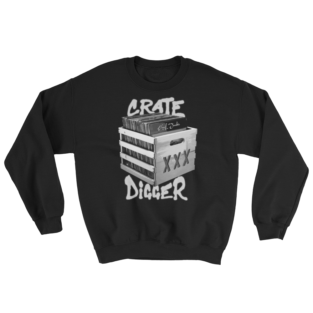 Crate Digger Sweatshirt - Vinyl Clothing Co - DJ Apparel Clothing Disc Jockey Vinyl Gear