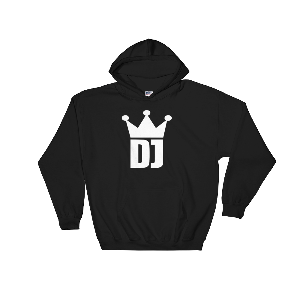 DJ Crown Hoodie - Vinyl Clothing Co - DJ Apparel Clothing Disc Jockey Vinyl Gear
