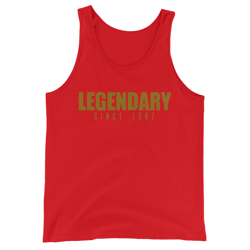 Legendary Since 1987 (Year Customizable) Unisex  Tank Top - Vinyl Clothing Co - DJ Apparel Clothing Disc Jockey Vinyl Gear