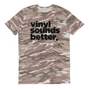 Vinyl Sounds Better Camouflage t-shirt