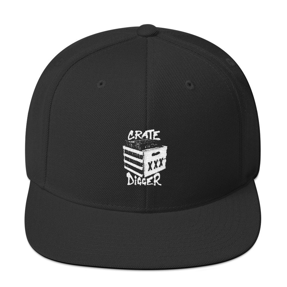 Crate Digger Snapback Hat - Vinyl Clothing Co - DJ Apparel Clothing Disc Jockey Vinyl Gear