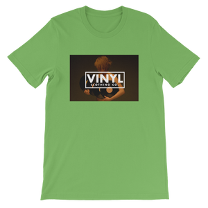 Woman & Vinyl Short-Sleeve Unisex T-Shirt - Vinyl Clothing Co - DJ Apparel Clothing Disc Jockey Vinyl Gear