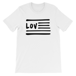 Love Nation Short-Sleeve Unisex T-Shirt (Blk Print) - Vinyl Clothing Co - DJ Apparel Clothing Disc Jockey Vinyl Gear