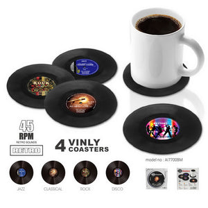 Set Of 4 Vinyl Coasters